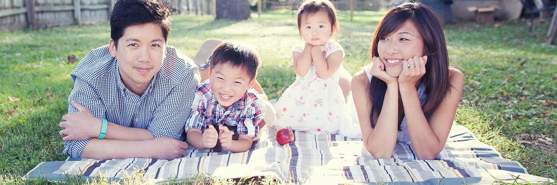 Chen Family Portraits | Downtown Clifton Fairfax Virginia Family Photographer