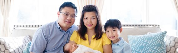 Nguyen In-Home Lifestyle Newborn Family Portrait Session in Oakton Virginia