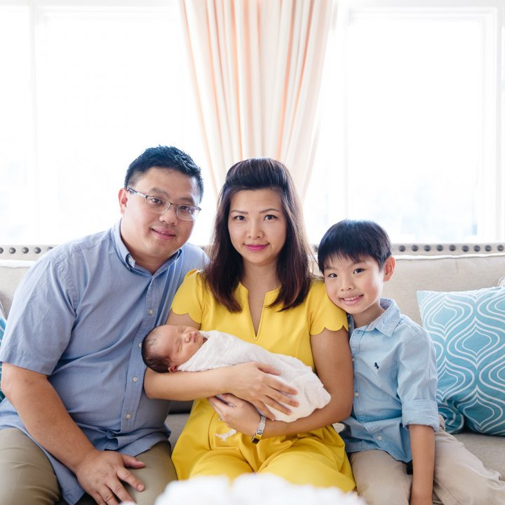 Nguyen In-Home Newborn Family Portrait Session | Oakton Newborn Photographer