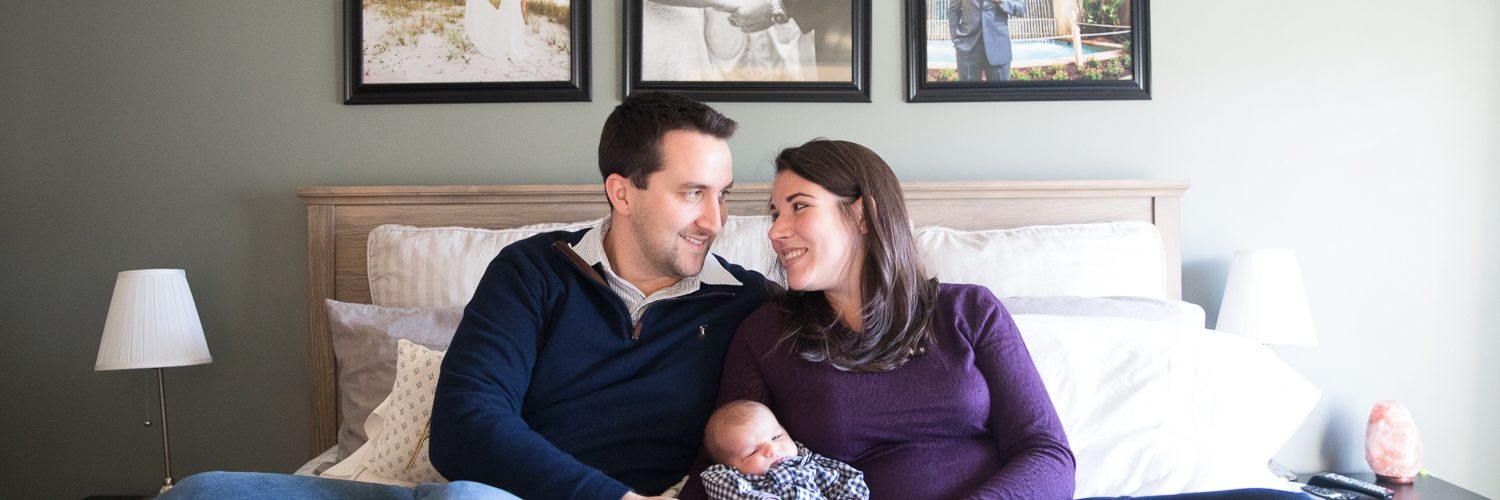DeFlorio Newborn Family Portraits on-location | Fairfax Newborn Photographer